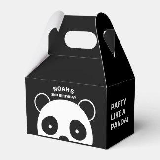 Panda favor boxes, Black and white party Favor Box