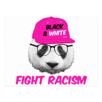 PANDA FIGHT RACISM POSTCARD