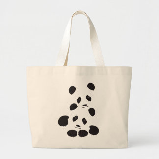 Panda Friendship Large Tote Bag