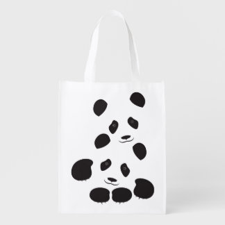 Panda Friendship Reusable Grocery Bag