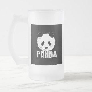 Panda Frosted Glass Beer Mug
