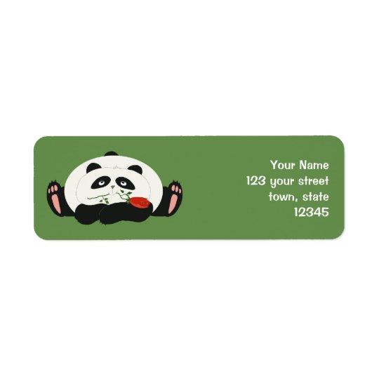 Panda Funny Romantic Cartoon Green Charming Cute