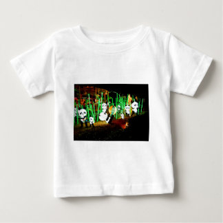Panda Garden Light Up Night Photography Baby T-Shirt