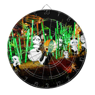 Panda Garden Light Up Night Photography Dartboard