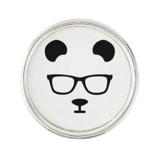 Panda geek lapel pin