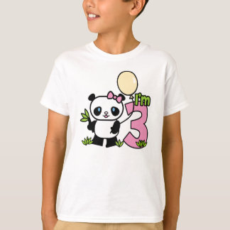 Panda Girl 3rd Birthday T-Shirt