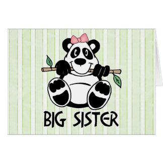 Panda Girl Big Sister Note Card