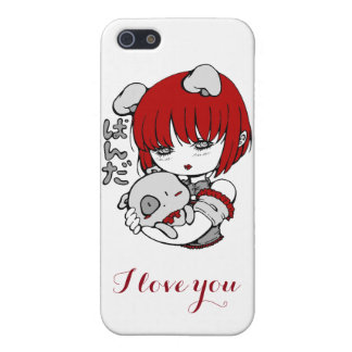 panda girl: I coils you Cover For iPhone 5/5S