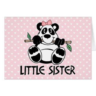 Panda Girl Little Sister Card