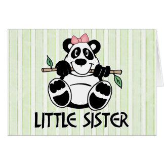 Panda Girl Little Sister Note Card