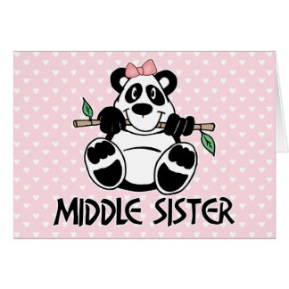 Panda Girl Middle Sister Cards