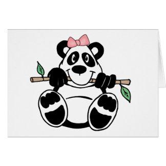 Panda Girl Note Card