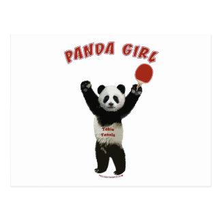 Panda Girl Ping Pong Postcard