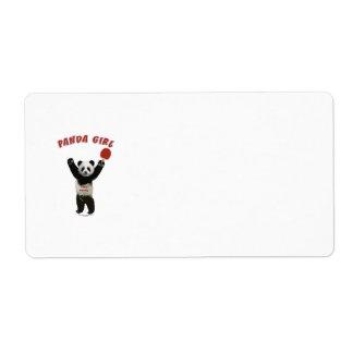 Panda Girl Ping Pong Shipping Label