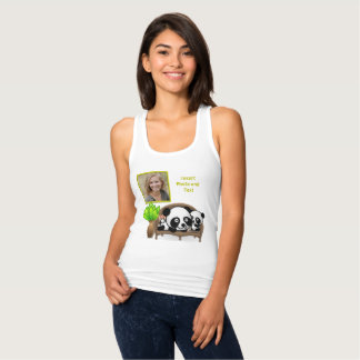 Panda, Green Plant - Insert YOUR Photo & Text - Tank Top