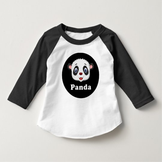 Panda Head Kids Toddler Baby Raglan T-Shirt