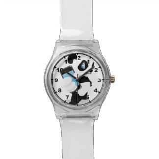 Panda holding an iPhone Wrist Watches