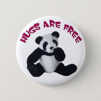 Panda hug 2 inch round button