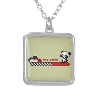 Panda Hug Loading Silver Plated Necklace
