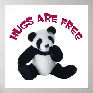 "Panda hug Poster 24x24"""