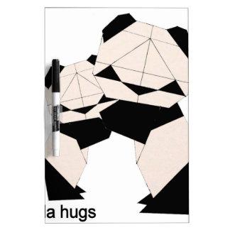 panda hugs Dry-Erase whiteboard