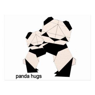 panda hugs postcard