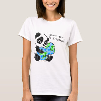 Panda hugs the earth / earthday T-Shirt