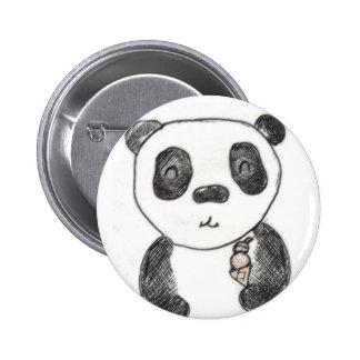 panda ice 2 inch round button