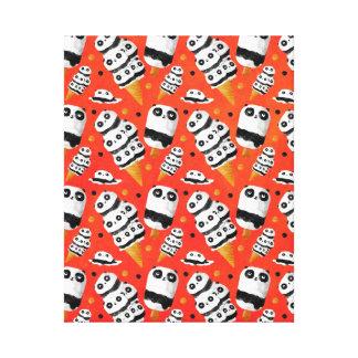 Panda Ice Cream Pattern Canvas Print