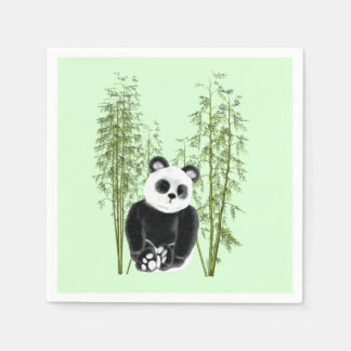 Panda in Bamboo Paper Napkin