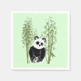 Panda in Bamboo Paper Napkins