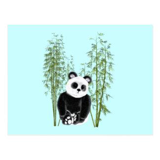 Panda in Bamboo Postcard