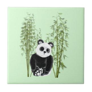 Panda in Bamboo Tiles