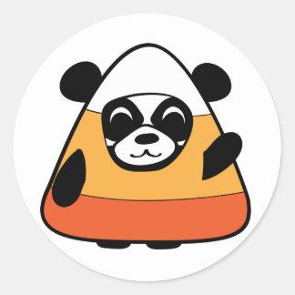 Panda in Candy Corn Costume Sticker
