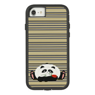 Panda in Love Cute Chic Girly Golden Black Stripes Case-Mate Tough Extreme iPhone 8/7 Case