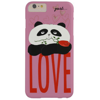 Panda In Love Dusty Rose Background Barely There iPhone 6 Plus Case