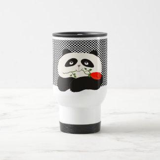 Panda in Love Romantic Cute Cartoon Bear for Kids Travel Mug