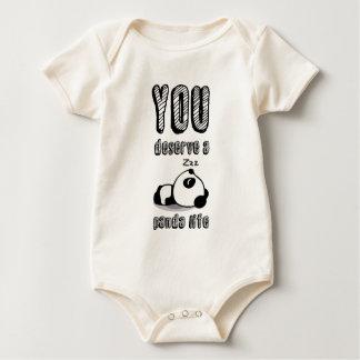 Panda life- baby bodysuit