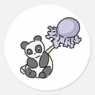 Panda Lollipop Classic Round Sticker