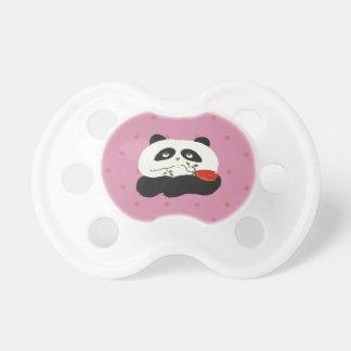 Panda Love Cartoon Cute Romantic Nostalgic Bear Pacifier