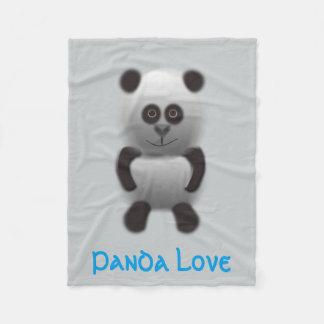 panda love fleece blanket