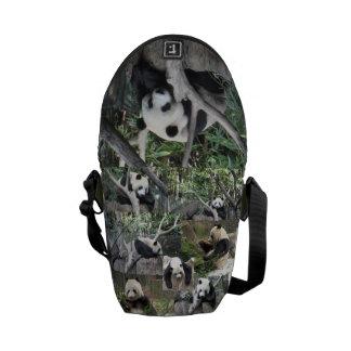 Panda Lover's Messanger Bag Commuter Bag