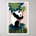 Panda Loves Tree At Zoo 1938 WPA Posters