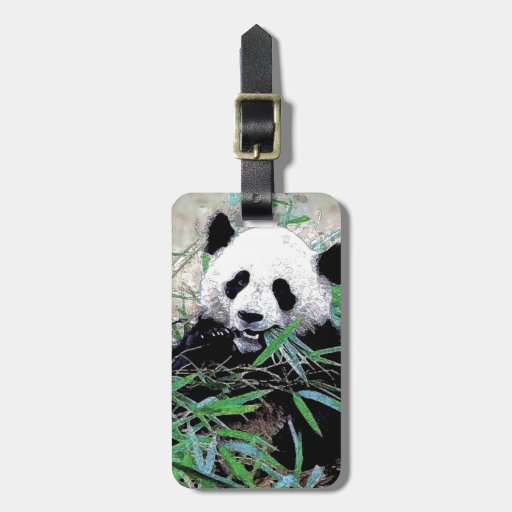 Panda Luggage Tags