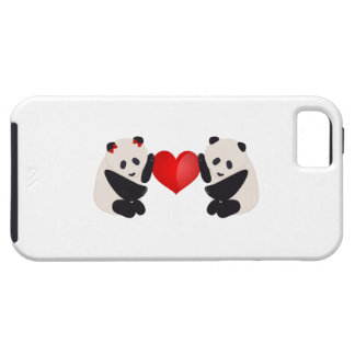 Panda Male and Female with heart iPhone 5 Cover