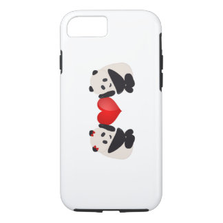 Panda Male and Female with heart iPhone 7 Case