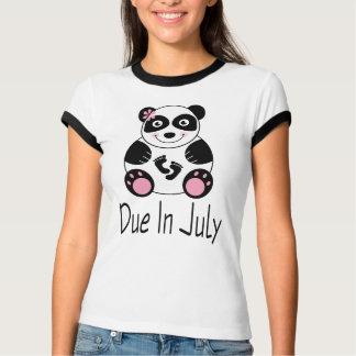 Panda Maternity Due In July T-Shirt