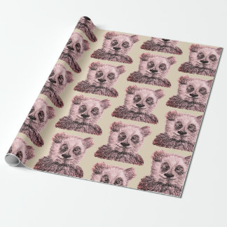 Panda Matte Wrapping Paper