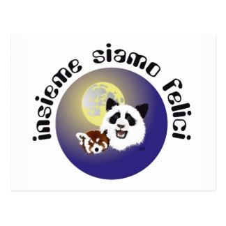 Panda meeting postcard