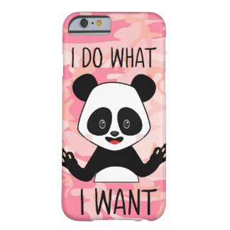 Panda Middle Finger I Do What I Want Funny Meme Barely There iPhone 6 Case